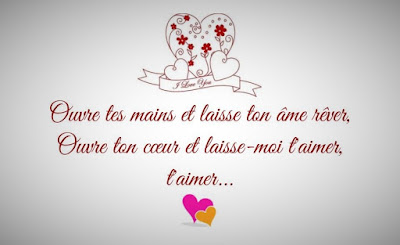 Message d'amour qui touche le cœur.