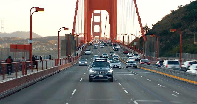 Volvo autonomous car in San Francisco