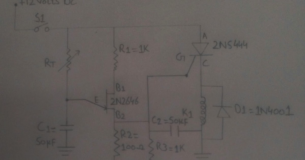 Scr Dc Power Delay Circuit Simple Schematic Diagram