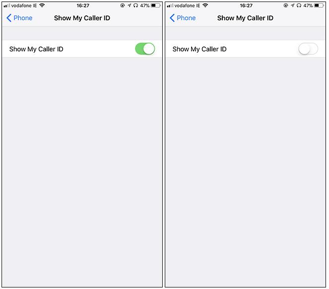 Mostra ID chiamante iphone su disattivato