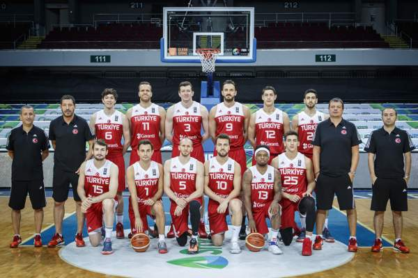 Turkey Men's Basketball Team Line-up (Roster). Image courtesy of FIBA.com