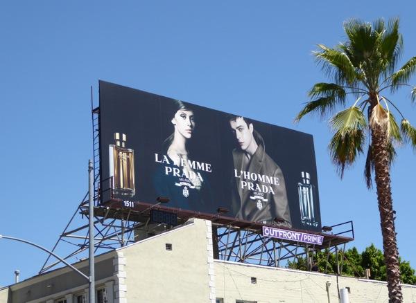 La Femme L'Homme Prada fragrances billboard