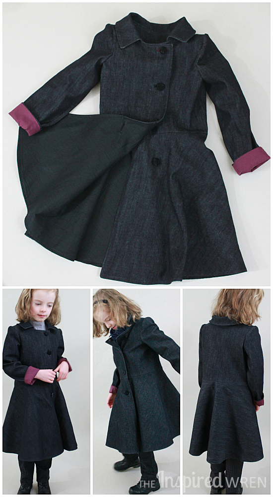 Gorgeous denim coat! Mini female Sherlock cosplay sewn for Project Run & Play, Season 11 Week 2 | The Inspired Wren
