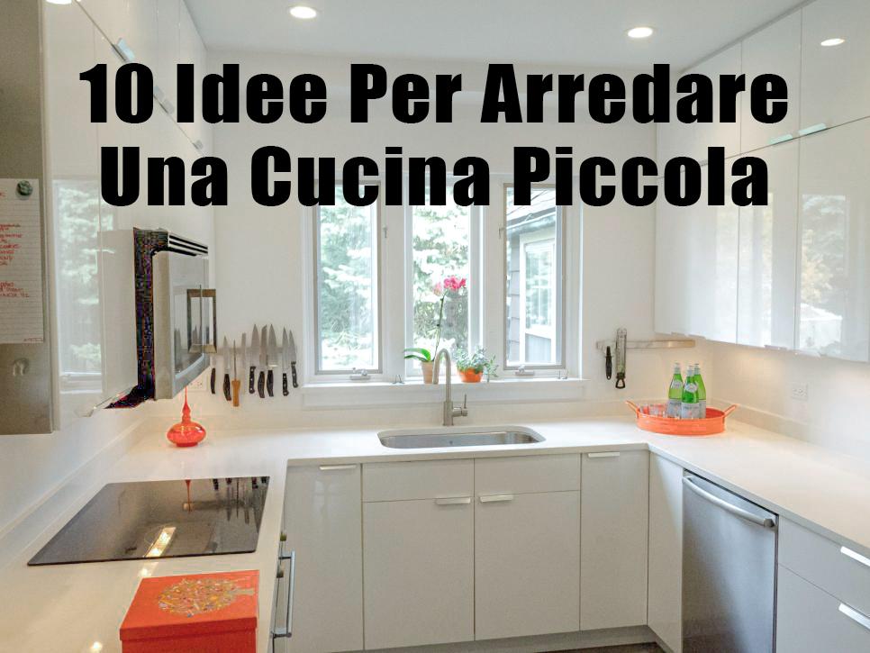10 idee per arredare una cucina piccola e farla sembrare for Idee creative per arredare