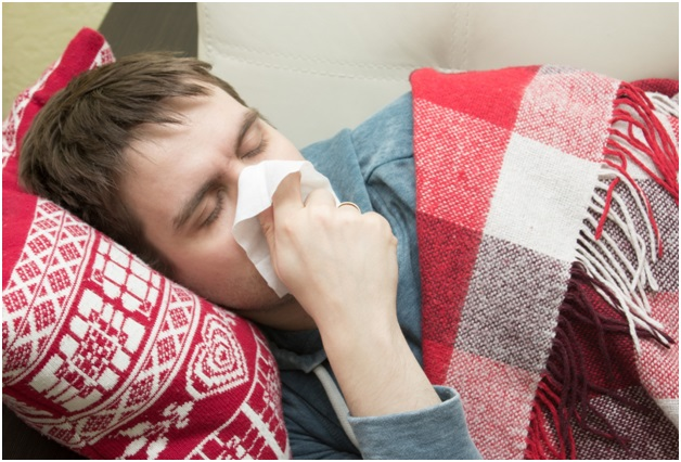 Finding ways of sleeping with a cold