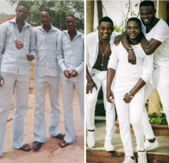 AY Shares Before & After Pics With His Brother