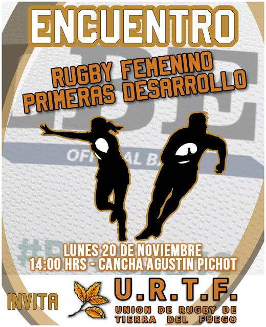 Éste lunes, jornada de rugby femenino y primeras desarrollo