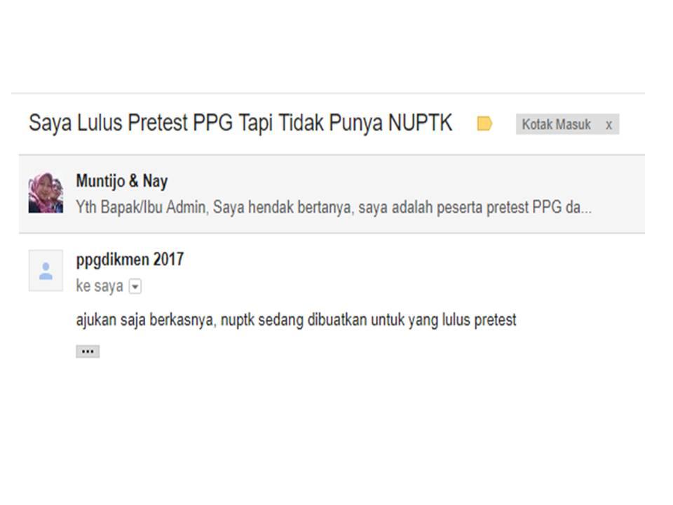Pengumuman Hasil Tes Online Ppg 2017
