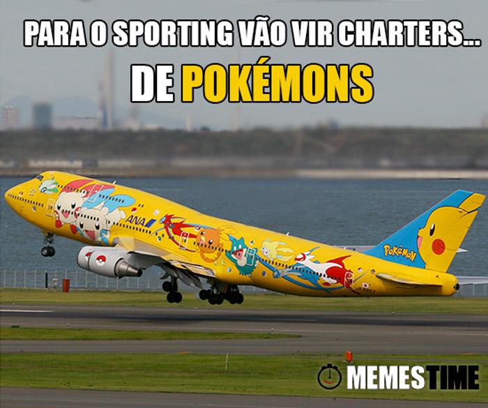 Memes Time Jorge Jesus vai caçar Pokémons – Para o Sporting vão vir charters… de Pokémons