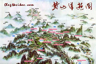 Mapa HuangShan