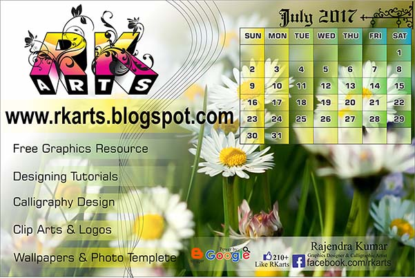 Holiday Calendar July 2017