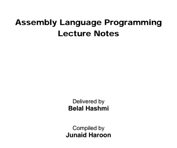 [pdf]Assembly Language Programming Delivered by Belal