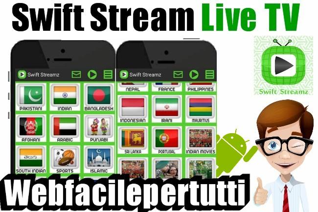 Swift Streamz | Applicazione Per Vedere Calcio, NBA, Tennis, Formula 1, MotoGP Su Android