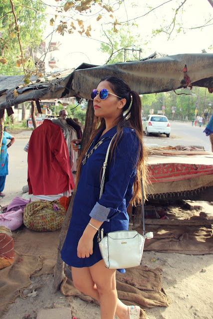 denim dress, How to style shirt dress, mirrored glasses, rural jewelry, metallic sling bag, fashion, summer fashion trends 2016, street style india, street style outfit, floral loafers,pig tails,summer hairstyles 2016,beauty , fashion,beauty and fashion,beauty blog, fashion blog , indian beauty blog,indian fashion blog, beauty and fashion blog, indian beauty and fashion blog, indian bloggers, indian beauty bloggers, indian fashion bloggers,indian bloggers online, top 10 indian bloggers, top indian bloggers,top 10 fashion bloggers, indian bloggers on blogspot,home remedies, how to