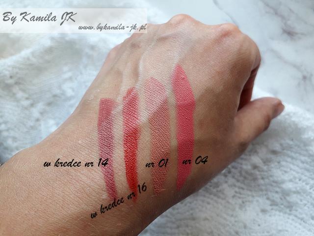 Celia przegląd kosmetyków do makijażu z linii ART matowe szminki w kredce swatche