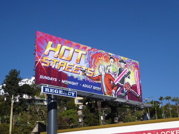 Hot Streets series premiere billboard