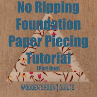 No ripping paper piecing tutorial (Part One) by Wooden Spoon Quilts