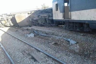 كركر: انقلاب قطار اثر خروجه عن السكّة