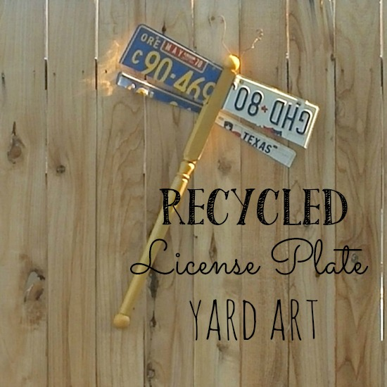 Recycled license plate projects!