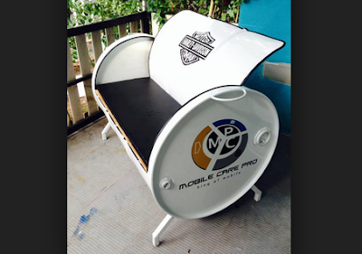 kursi sofa dari drum bekas