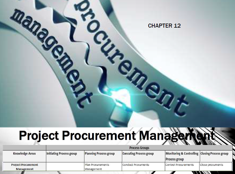 project procurement A key element in the execution of any project, procurement at technip is managed by a force of approximately 1,000 individuals assigned to project task forces they.