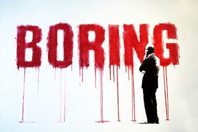 boring, membosankan