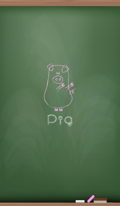 Pigs on the blackboard.