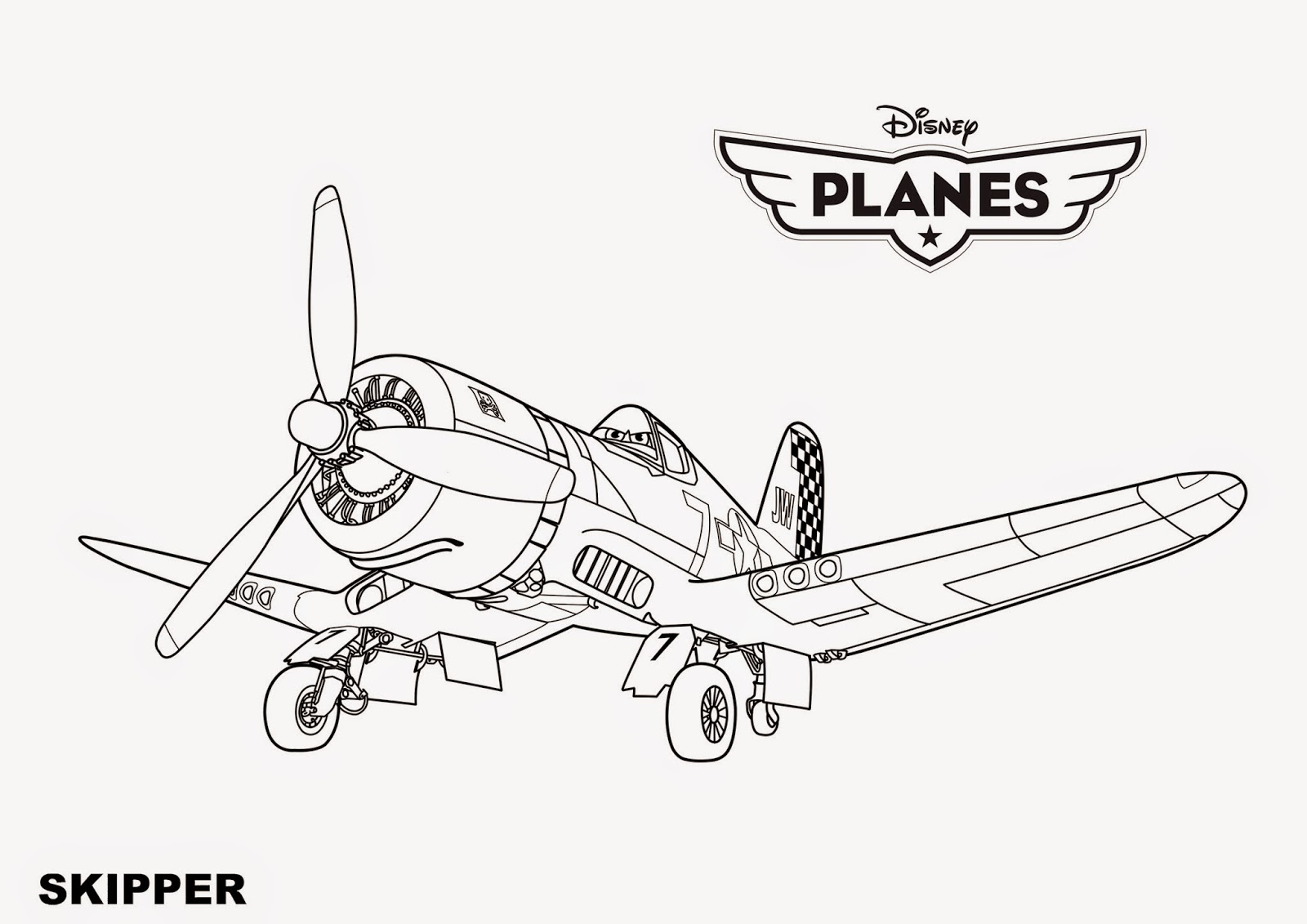 Coloring Pages Disney Planes Coloring