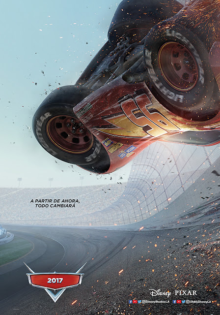 Cartel película de Pixar Animation Studios Cars 3