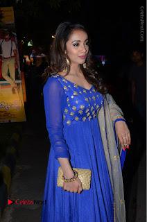 Telugu Actress Tejaswi Madivada Pos in Blue Long Dress at Nanna Nenu Na Boyfriends Audio Launch  0054.JPG