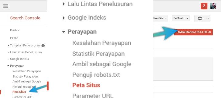 Cara Membuat Sitemap/Peta Situs Di Google Webmaster Tools