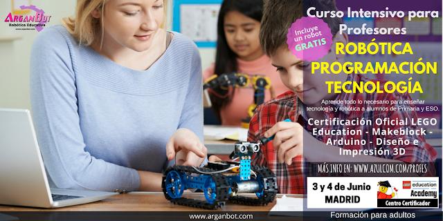 formación al profesorado de robótica educativa