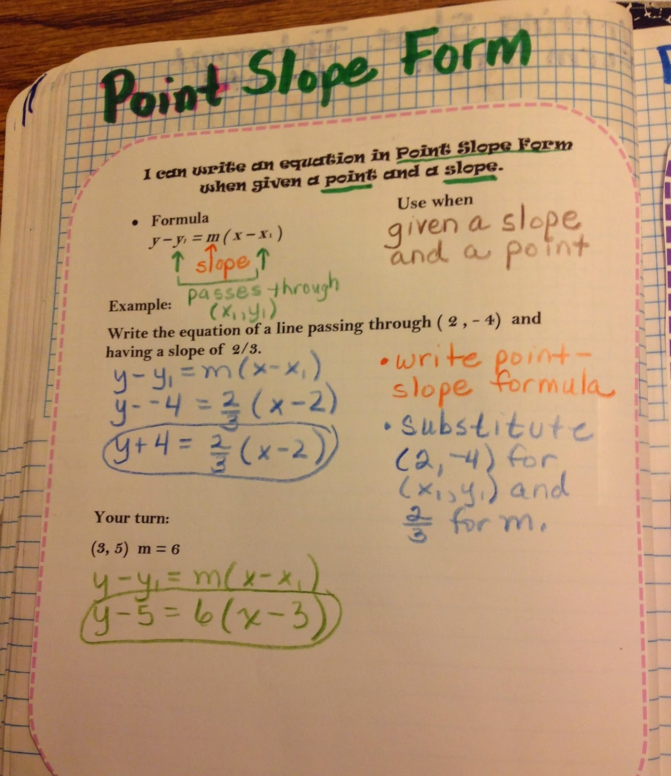 Equation freak slope interactive notebook pages falaconquin
