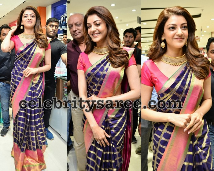 34fb8299513c2c Kajal Agarwal at Chennai Shopping Mall. Indian Trends 2 years ago  Celebrities Sarees ...