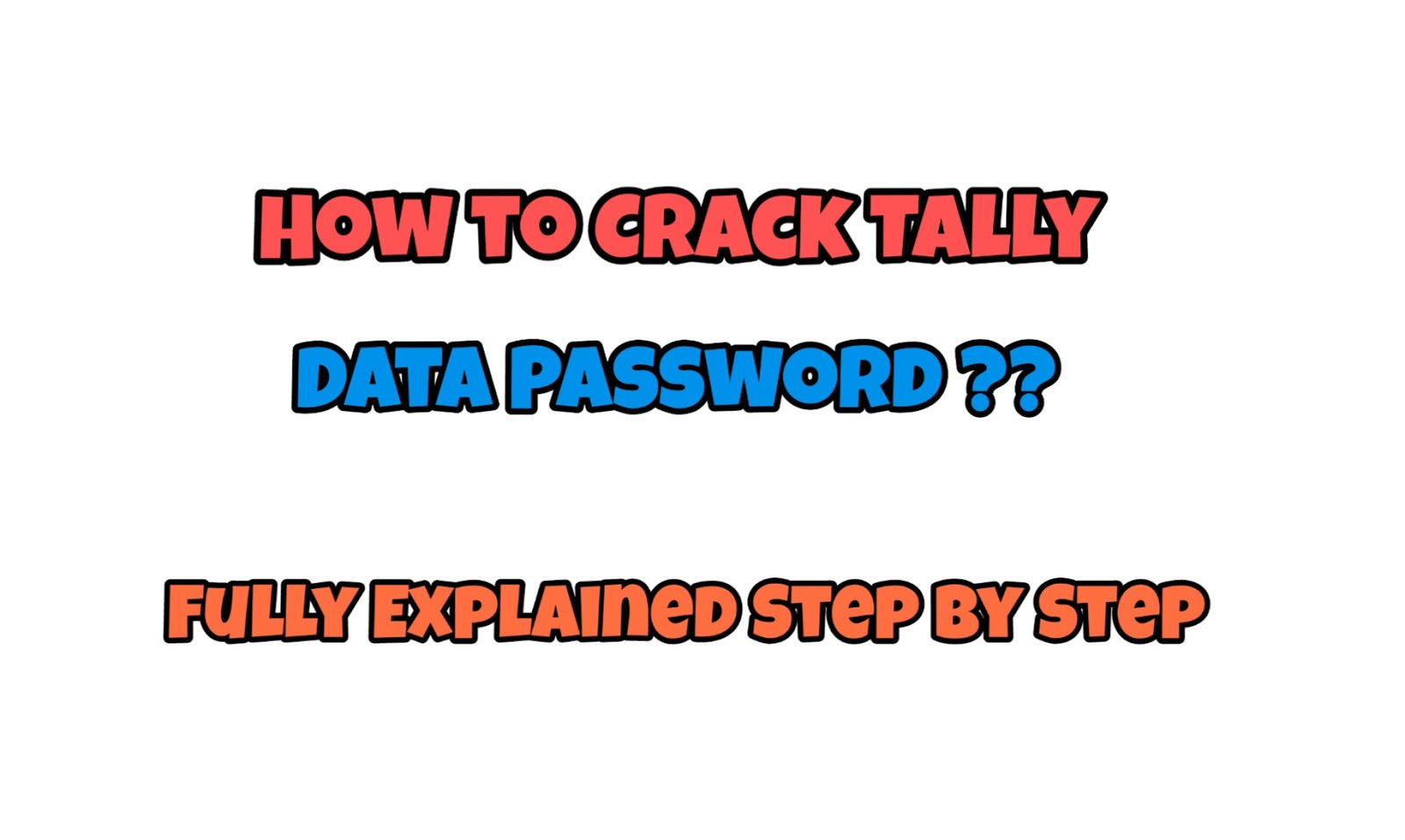 How to Crack Tally Data Password ?