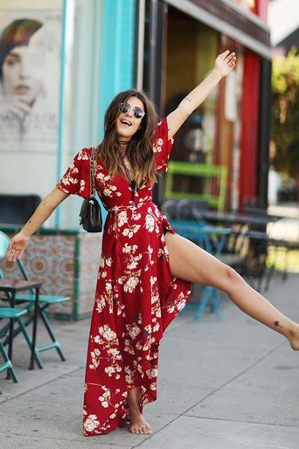 Vestido floral verão