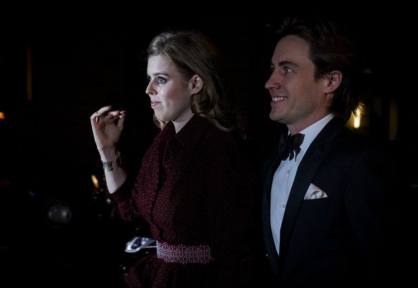 Princess Beatrice and her boyfriend Edoardo Mapelli Mozzi also attended the Portrait Gala 2019