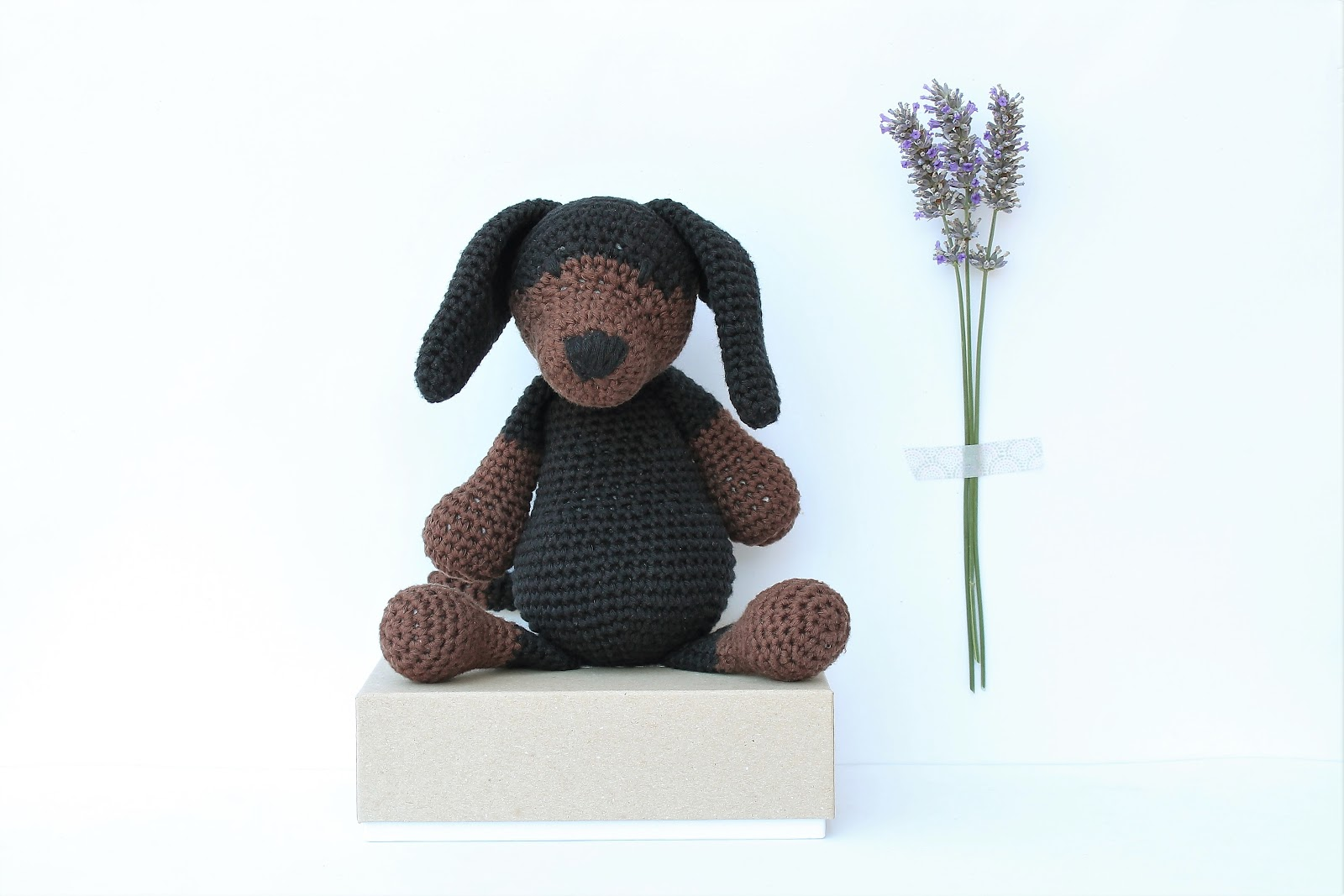 Dash the Dachshund Pup; CROCHET PATTERN; PDF | Crochet dog ... | 1067x1600