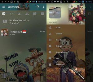 Download BBM Mod Tema Doraemon Versi 3.3.4.48 Update Terbaru