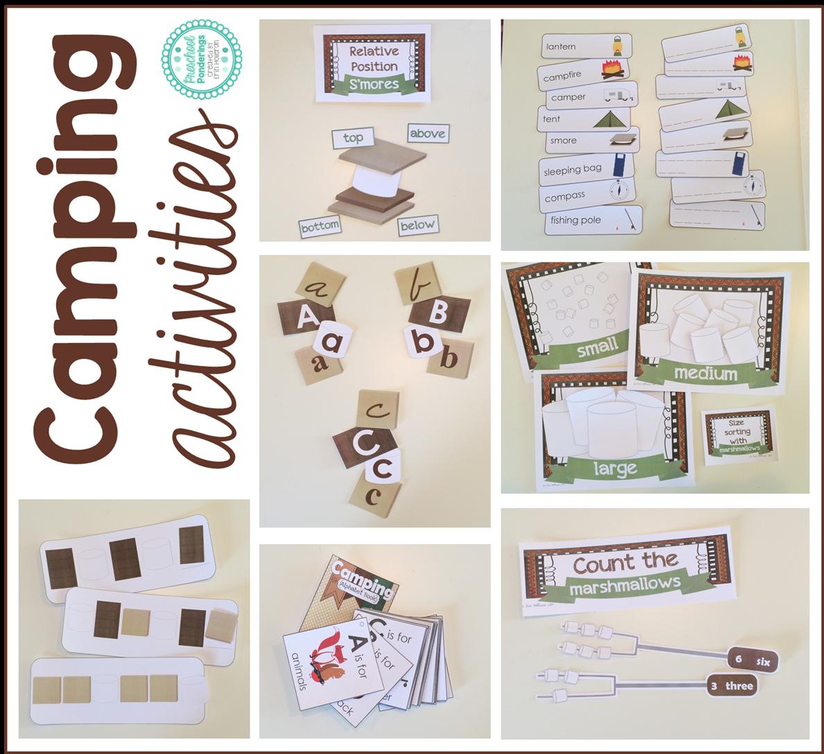Preschool Ponderings Camping Printables For Preschool