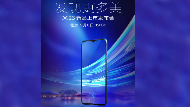 Vivo X23 is set to launch on September 06!