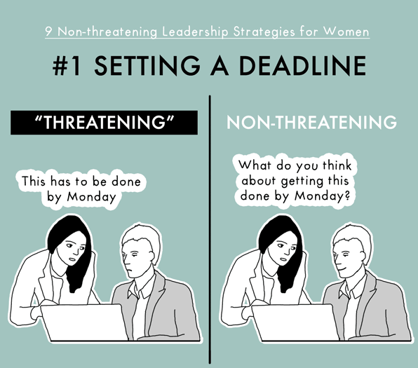 http://thecooperreview.com/non-threatening-leadership-strategies-for-women/