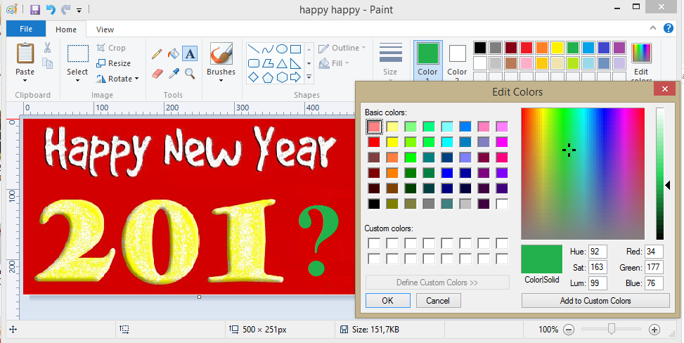 Hiển thị thanh thước kẻ (Rulers) trong công cụ Paint Windows 7 Windows 8/8.1