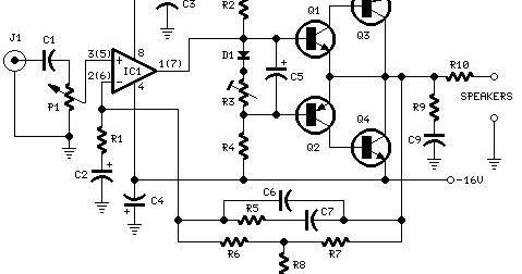 Electronics Circuit Application : 10Watt Audio Amplifier