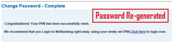 how to change internet banking password in hdfc bank