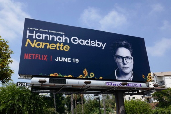 Hannah Gadsby Nanette standup billboard