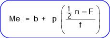 Cara menghitung median untuk data berkelompok dalam bentuk distribusi frekuensi