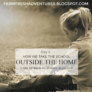 Taking School Outside The Home {Back to School Blog Hop}