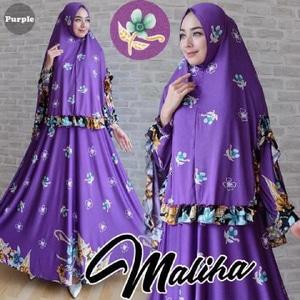 Agen Gamis Syar'i Cantik Maliha purple