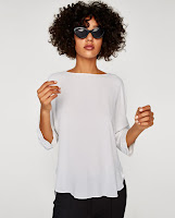 zara white top